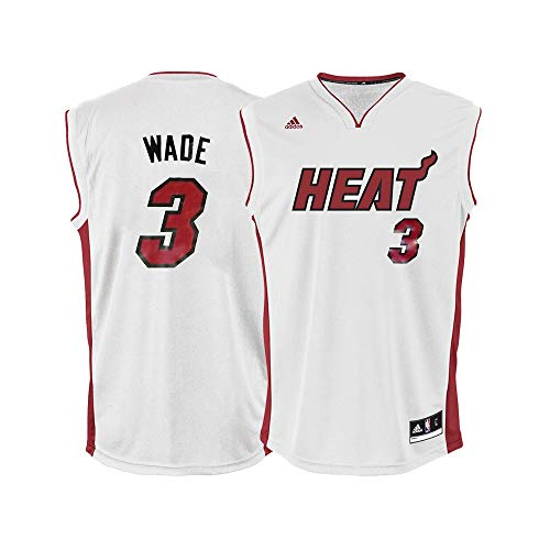 NBA Miami Heat Dwayne Wade White Replica Jersey, - Jerseys Heat Miami Mens