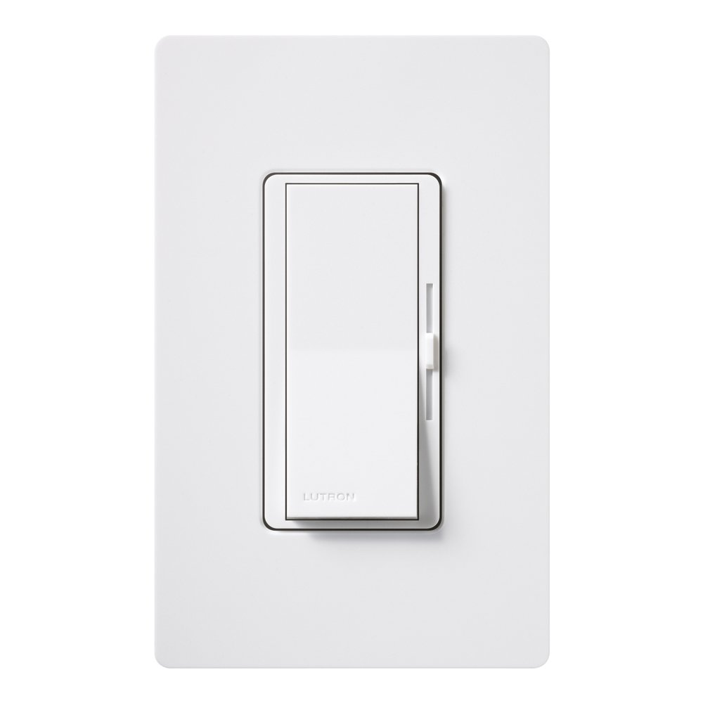 Lutron Diva C.L Dimmer Switch for Dimmable LED, Halogen and Incandescent Bulbs, with Wallplate, Single-Pole or 3-Way, DVWCL-153PH-WH, White by Lutron