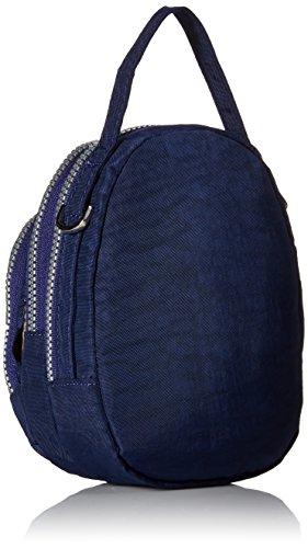 tianhengyi Nylon resistente de agua pequeño bolso bandolera bolso de mano Monedero de tres capas bolsa de teléfono celular para adolescentes Azul marino
