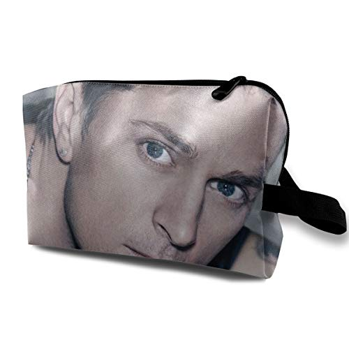Nathalie R Salmeron Rob Thomas Women's Makeup Bag Travel Case Cosmetic Bag with Zipper