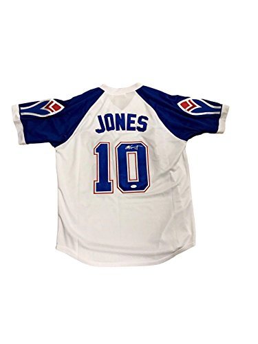 Autographed Chipper Jones Jersey - Throwback White - JSA Certified - Autographed MLB (Jones Autographed White Throwback Jersey)