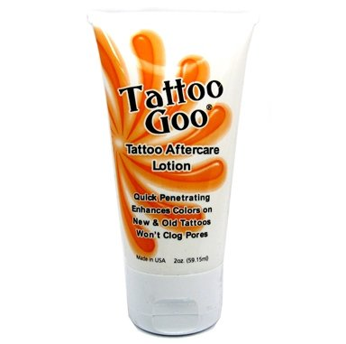 Tattoo goo aftercare lotion 2 oz moisturize skin heals for Lotion for tattoo aftercare