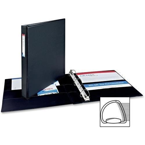 SR11-10L-BK Avery Durable Slant Reference Binder With Label Holder - 1'' Binder Capacity - Letter - 8.50'' Width x 11'' Length Sheet Size - 220 Sheet Capacity - 3 x D-Ring Fastener - 4 Pockets - Vinyl - Black - 1 Each