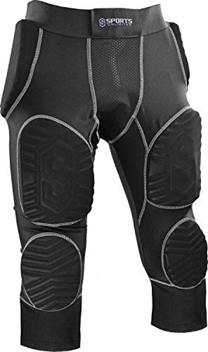 4dc694c72c4 Sports Unlimited Adult 7 Pad Integrated Football Girdle - Hard Thigh Pads  W Mesh Leg Extension