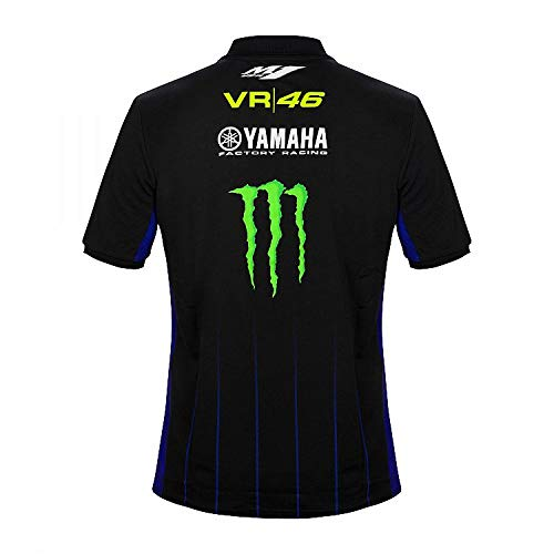 Valentino Rossi VR46 Moto GP M1 Black Line Yamaha Polo Shirt Official 2019