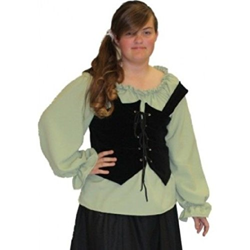 OvedcRay Woman Renaissance Pirate Medieval Wrench Bodice Lace Up Costume Vest Corset