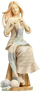 Enesco Foundations by Karen Hahn Crafting Friendship Figurine, 6.89-Inch