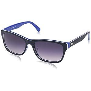 Lacoste L683s Square Sunglasses, Blue/Turquiose, 55 mm