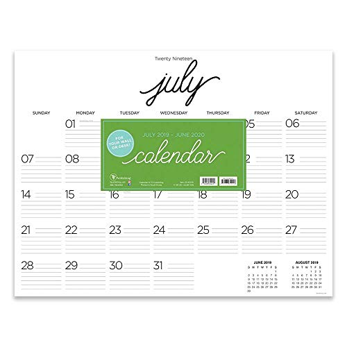 Farmhouse Script Calligraphy Large Desk Pad Monthly 2020 Calendar: July 2019 - June 2020 (Academic Year Desktop Calendar, Planning Blotter)