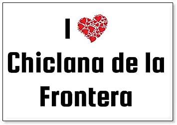 Im/án para Nevera Mundus Souvenirs Amo Chiclana de la Frontera dise/ño 1