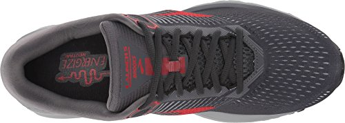 Brooks Mens Launch 5 - Ebony/Grey/Red - D - 12.5