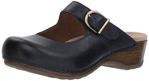 Dansko Women's Martina Mule, Navy Burnished Nubuck