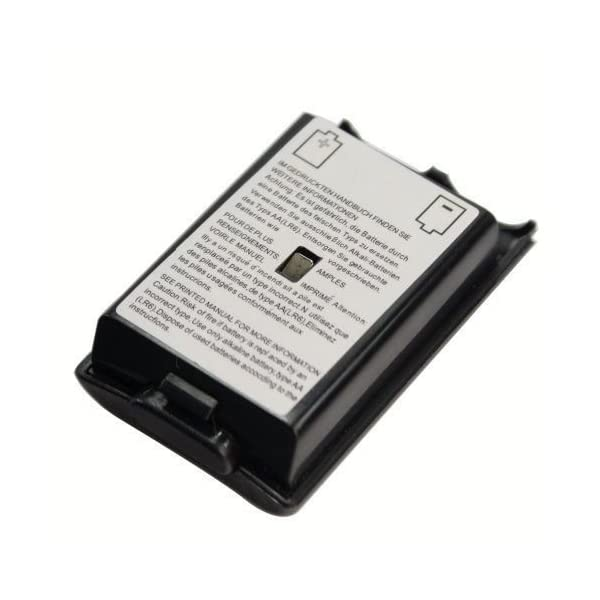Xbox 360 Controller Replacement Battery Pack Cover Shell - Black