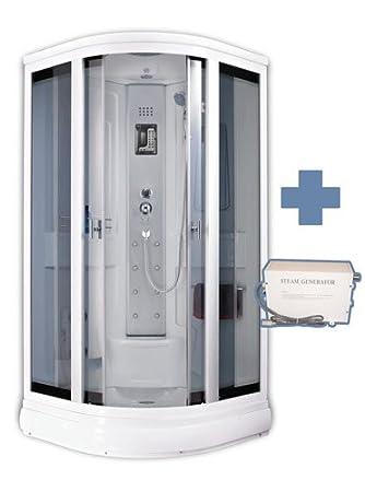 box doccia idromassaggio con bagno turco 90x90 mambo