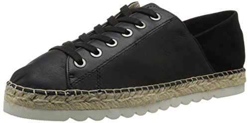 Nine West Womens Nonchalant Leather Fashion Sneaker Black/Black