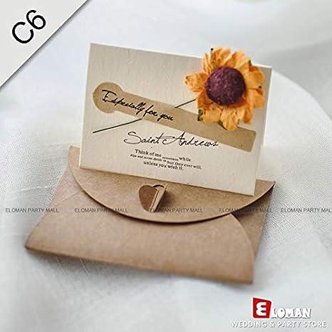 Amazon Com Occus 25pcs Pocket Wedding Invitation Cards