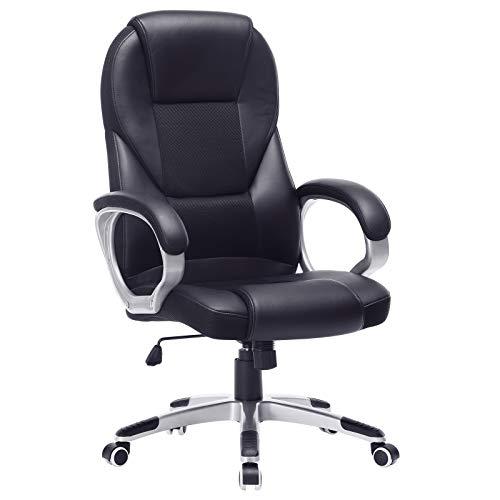 41nsUgTtqkL. SS500 Alta estabilidad y larga duración: las partes importantes (como reposabrazos, ruedas, resortes de gas, etc.) han sido mejoradas y han superado la BIFMA (BIFMA). Con un diámetro de la base en cruz de aprox. 70 cm garantiza una excelente estabilidad y verificado por SGS. La silla de oficina es resistente y duradera. Máx. Capacidad de carga: 150 kg. Altura total: 112-122 cm. Altura del respaldo: aprox. 74 cm. Ancho del asiento: aprox. 54 cm. Profundidad: aprox. 50 cm. Altura del asiento regulable: aprox. 44-54 cm. Altura desde el reposabrazos hasta el suelo: aprox. 68-78 cm. Diámetro de la base: aprox. 70 cm. Material de alta calidad: la superficie de poliuretano de alta calidad es agradable al tacto y fácil de limpiar. El acolchado extra grueso permite un confort óptimo y promete una buena elasticidad y un mejor ajuste. No se deforma fácilmente.