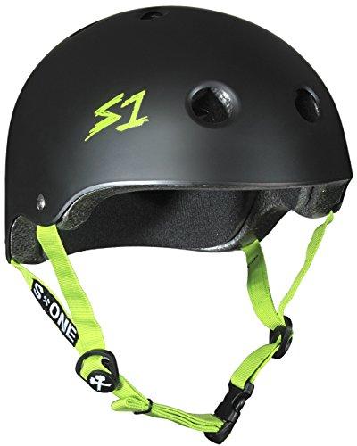 S1 Lifer Black Matte With Green Straps Longboard Skateboard