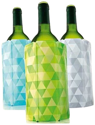 Vacu Vin Rapid Ice Wine Cooler - Set of 3 - Diamond Green, Blue, and Gray ()