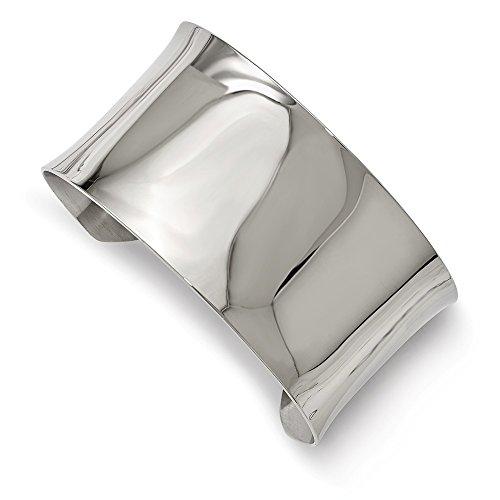 14 Mm Polished Bangle - Stainless Steel Jewelry Cuff Bracelets 14 mm Polished Bangle