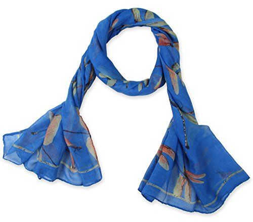 corciovar-dragonfly-printing-womens-long-scarf-bleu-de-france