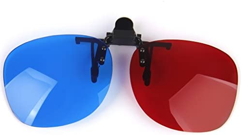 [해외]Almencla Adult Red Blue 3D Glasses Clip-on Anaglyph Glass Easy Clip Sunglasses Eye Lens 0.7mm for 3D Movie / Almencla Adult Red Blue 3D Glasses Clip-on Anaglyph Glass Easy Clip Sunglasses Eye Lens 0.7mm for 3D Movie
