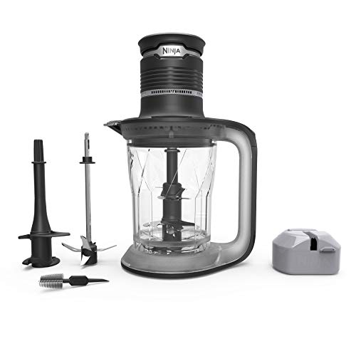 Ninja Ultra Prep Food Processor and Blender with Lightweight 700 Watt Power Pod for Dough, Smoothies, Chopping, Blending (PS101), Black/Clear (Ninja Food Processors)