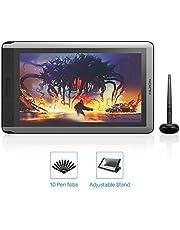 2019 HUION KAMVAS 16 tablet de dibujo con visualización, monitor de dibujo sin batería con sensibilidad a presión 8192, función de inclinación, 14 teclas Express y barra táctil, tablet de gráficos digitales para Windows Mac