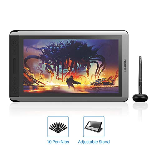 2019 HUION KAMVAS 16 Drawing Tablet Battery-Free Pen Display Graphics Drawing Monitor with 8192 Pressure Sensitivity, Tilt Function, 14 Express Keys and Touch Bar-Stand Included 15.6inch (Best Pc For 3d Animation 2019)