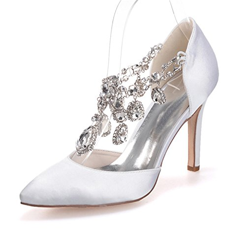 Ellenhouse Womens Rhinestone Crystal Stiletto Heel Pointe...