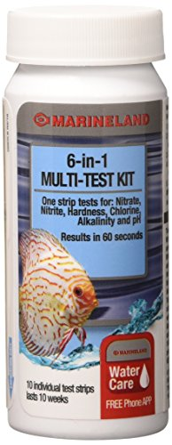 (MarineLand 6-in-1 Multi-Test Kit for Aquariums, 10-Count)
