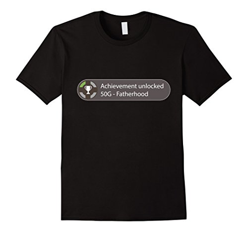 mens-achievement-unlocked-50g-fatherhood-funny-daddy-kids-shirt-xl-black