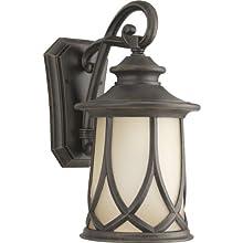 Progress Lighting P5988-122 Resort Collection 1-Light Wall Lantern, Aged Copper