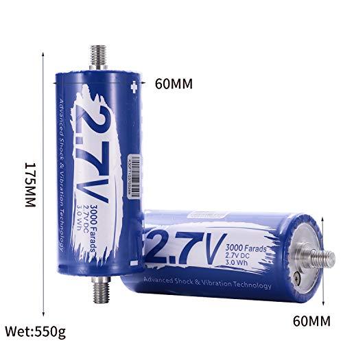 SHUNBIN Graphene Super Capacitor 2 7V 3000F Power Bank Solar Power System  Audio Battery