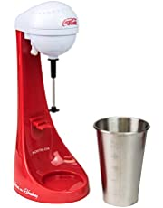 Nostalgia Two-Speed Electric Coca-Cola Limited Edition Milkshake Maker and Drink Mixer, Includes 16-Ounce Stainless Steel Mixing Cup & Rod-Red, 16 oz