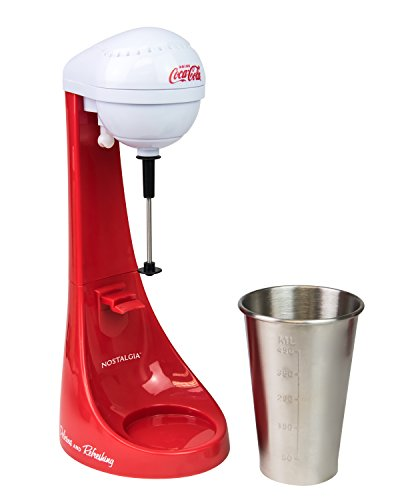 Nostalgia MLKS100COKE Coca-Cola Limited Edition Two-Speed Milkshake Maker, 16 oz, Cookie Red ()