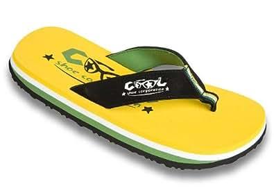 Cool Shoes - Chanclas unisex, color amarillo, talla 35/36