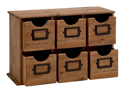 "Deco 79 66597 Wood Table File Cabinet, 21"" x 13"""