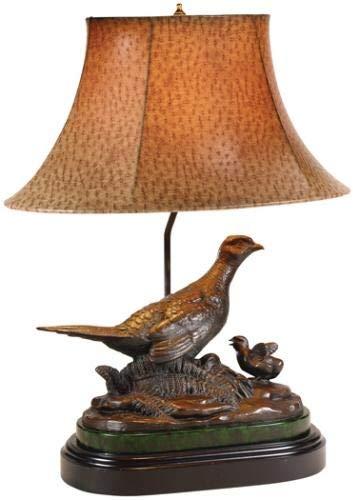 EuroLuxHome Sculpture Table Lamp Traditional Antique Hen Pheasant Birds 1-Light Resin