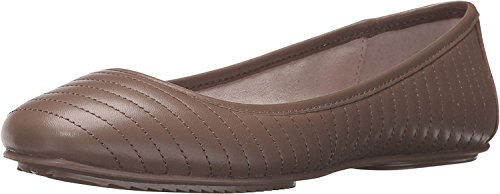 Kenneth Cole NY Tracy Women Round Toe Leather Brown Flats Clay