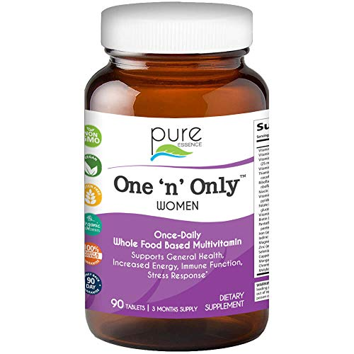 Pure Essence Labs One N Only Multivitamin for Women - Natural One a Day Herbal Supplement with Vitamin D, D3, B12, Biotin - 90 ()