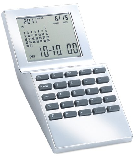 Natico World Time Alarm Clock with Calcuator, Calendar and Currency Converter (10-WT1350)