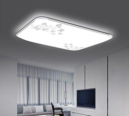 Moderne vereinfachte Deckenleuchte, Deckenleuchte, Acryl Aluminium, Wohnzimmer, Schlafzimmer Leuchte Lampe, moderne, einfache Rechteck, mit dünnen silbernen Rand 39  39 cm verstellbar 24 Watt drei
