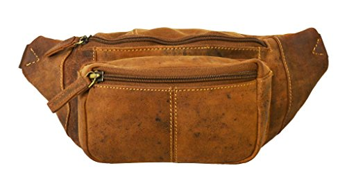 Visconti 720 Leather Waist Pack, Belt Pouch, Fanny Pak, Bumbag (Oil Tan) (Brown Oil Tan Leather)