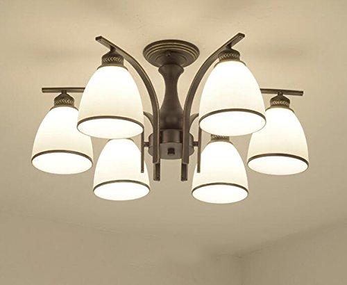 XUEXIN Luxury Contemporary Chandelier, 6-head light European Ceiling Lamp for Bedroom Living Room Restaurant Lighting by XUEXIN (Image #1)
