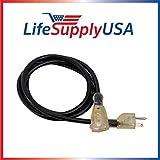 12/3 200ft SJTW 15 Amp 125 Volt 1875 Watt Lighted End Indoor/Outdoor Black Heavy Duty Extension Cord (200 Feet)