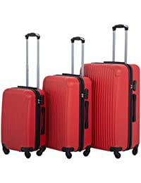 Suitcase Luggage Sets 3 Piece Travel Carry with Password Lock Lightweight Durable ABS Spinner 20 24