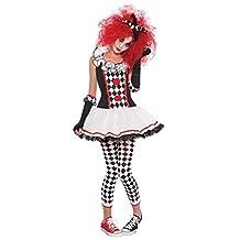 Deluxe Medium M Teens Harlequin Honey Halloween Clown Jester Harley Quinn Fancy Dress Costume by Amscan