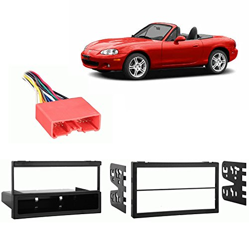 Fits Mazda Miata 2002-2005 Multi DIN Stereo Harness Radio Install Dash Kit (Miata Radio Installation Kit)
