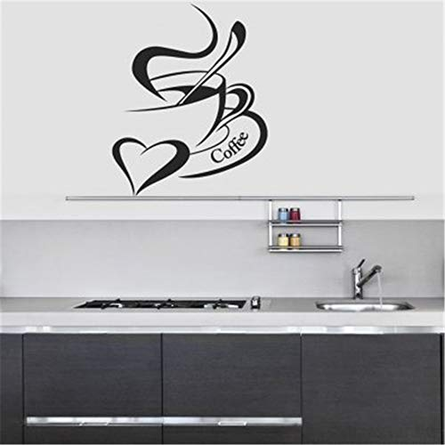 butuma Decals Wall Stickers Sayings Lettering Room Home Wall Decor Mural Art Coffee Mug with Heart Type Stickers